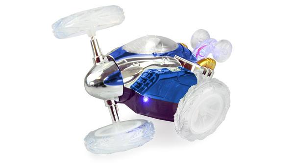 Masinuta albastra 360 cu telecomanda