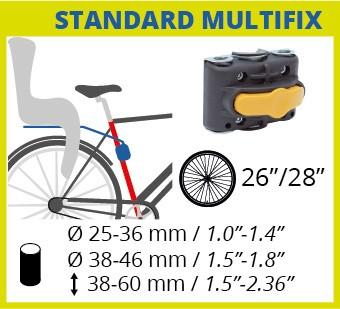 Bellelli Multifix - element de fixare scaun de bicicleta (pe spate)