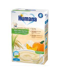 Cereale Humana fara lapte cu fulgi de orez si dovleac de la 6 luni 200 g