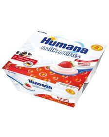 Iaurt Humana cu gust de capsuni de la 8 luni 4x100 g