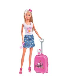 Papusa Simba Steffi Love Hello Kitty Travel 29 cm cu accesorii