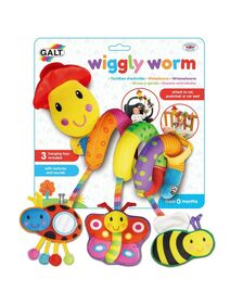 Jucarie pentru patut si carucior Wiggly Worm