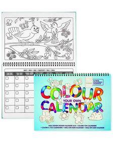 Carte de colorat - Calendarul meu