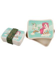 Cutie pentru pranz din bambus - Unicorn