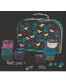 Set de modelaj cu plastilina, bijuterii cu flori