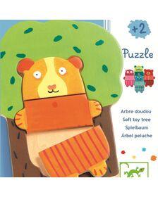 Puzzle lemn Djeco Copacelul vesel